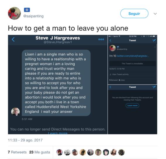 mujer embarazada pide retweets para no abortar 4
