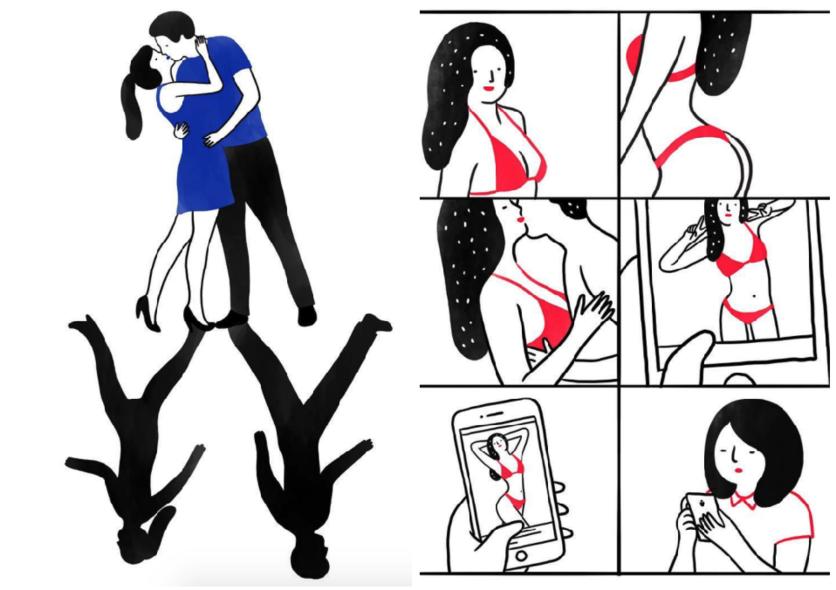 Ilustraciones de mujeres que permiten que les rompan el corazón 5