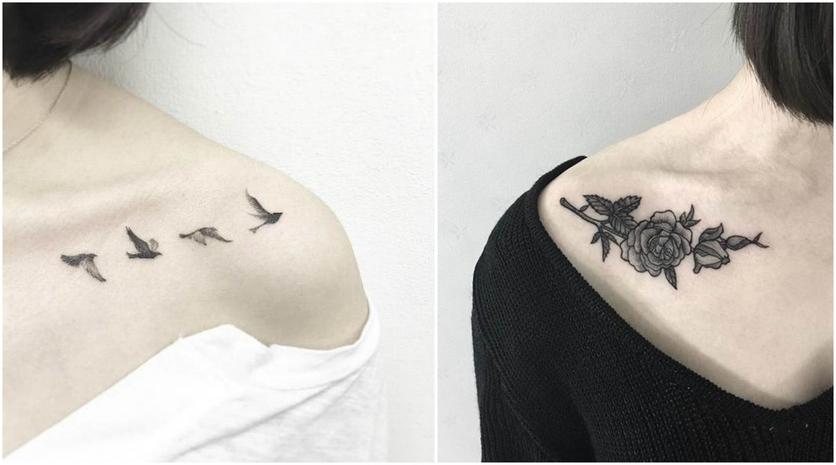 Tatuajes En La Clavícula Para Revivir Tu Lado Más Sofisticado