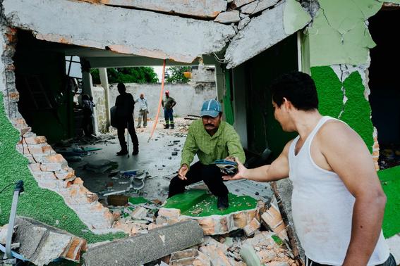 imagenes de la tragedia en juchitan 6