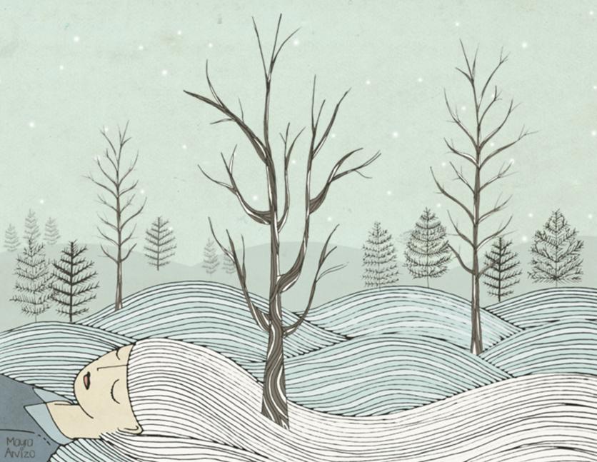 Ilustraciones que expresan el dolor de una mujer que nunca dice lo que siente 4
