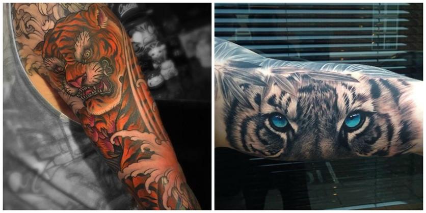 Tatuajes De Tigres Para Hombres De Espíritu Valiente Diseño Diseño