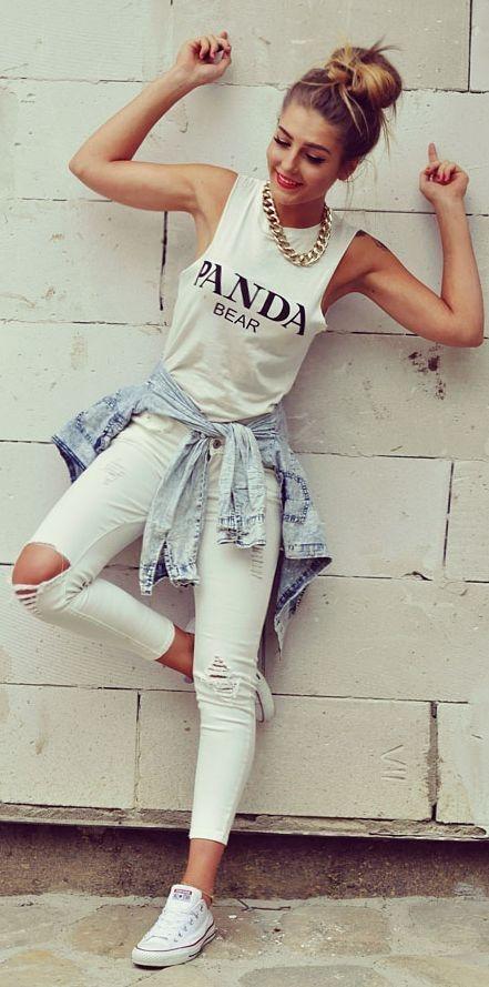 Errores que cometes al usar jeans blancos y cómo solucionarlos 6