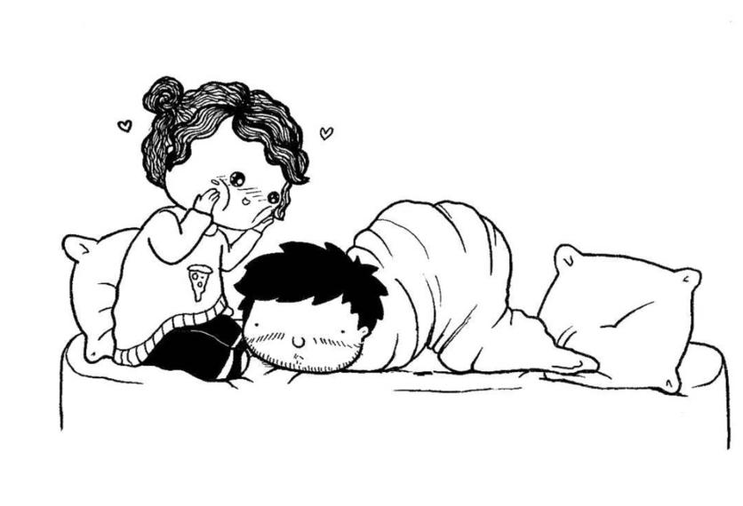 Ilustraciones de los momentos incómodos que sólo tienes con el amor de tu vida 15