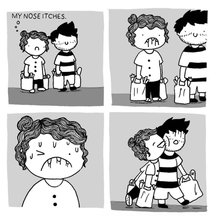 Ilustraciones de los momentos incómodos que sólo tienes con el amor de tu vida 12