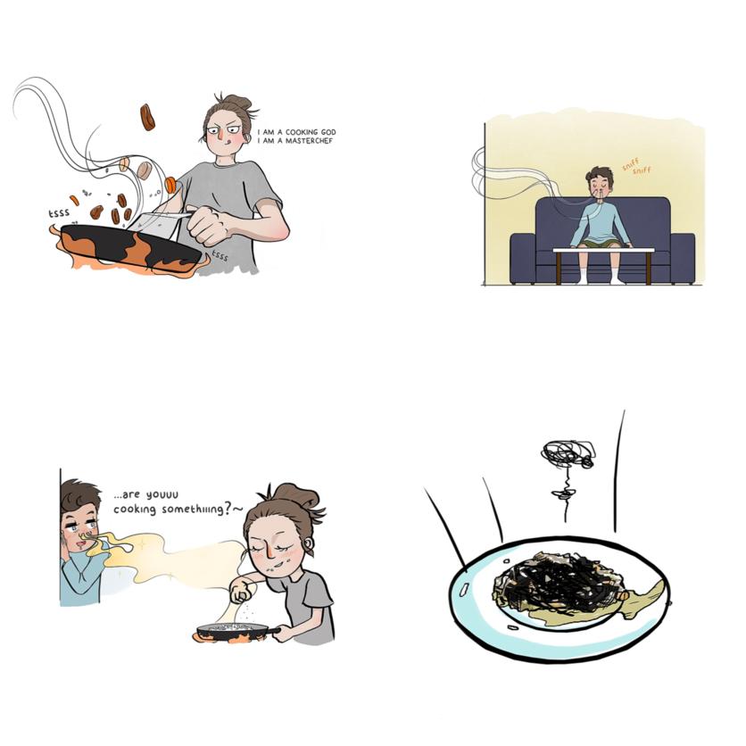 Ilustraciones de mujeres y sus problemas 6