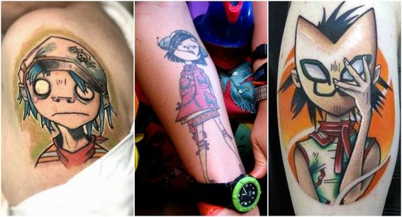 tatuajes de gorillaz 3