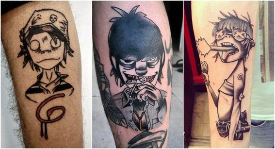 tatuajes de gorillaz 4