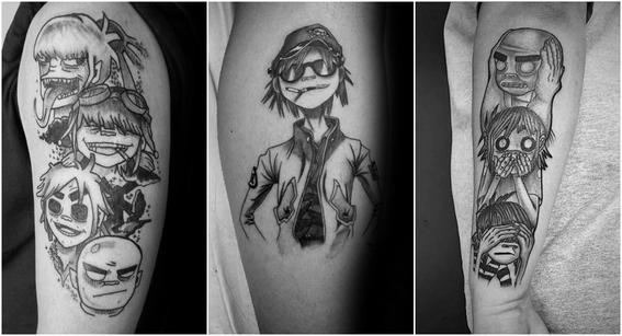 tatuajes de gorillaz 2