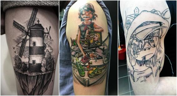 tatuajes de gorillaz 5