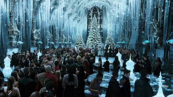 cena de navidad en el gran salon de hogwarts 1
