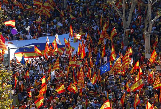 marchan en barcelona por la union de espana 1