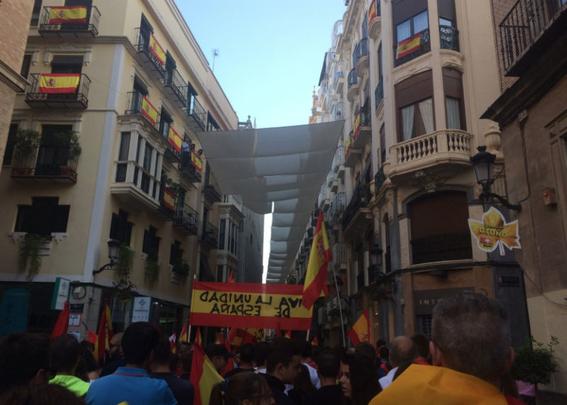 marchan en barcelona por la union de espana 2