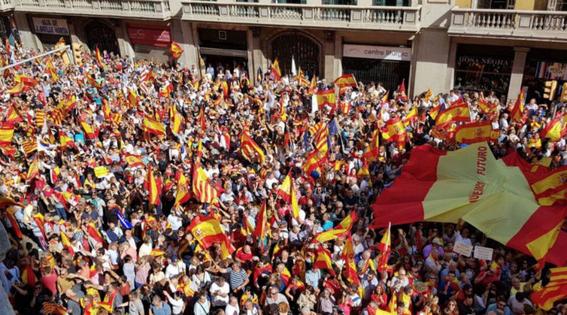 marchan en barcelona por la union de espana 7