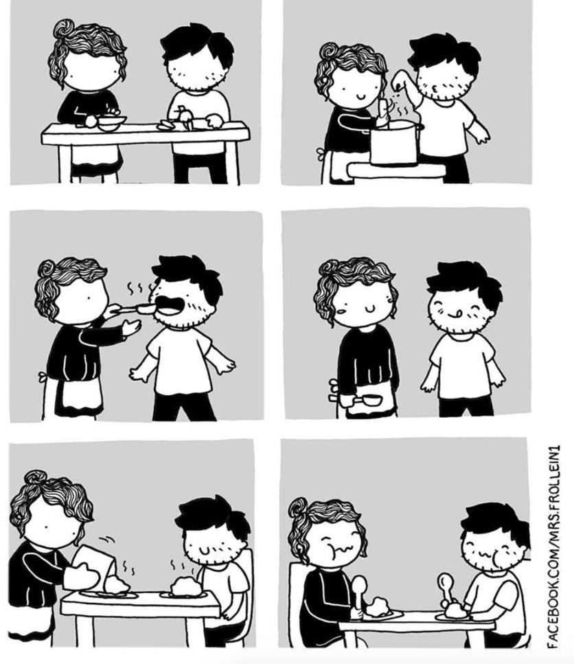 Ilustraciones de los momentos incómodos que sólo tienes con el amor de tu vida 5