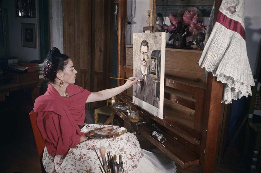 Ilustraciones de los 4 amores que cambiaron la vida de Frida Kahlo 1