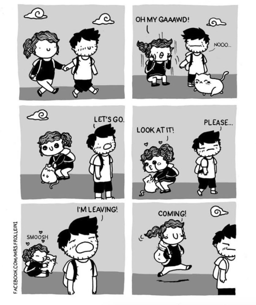 Ilustraciones de los momentos incómodos que sólo tienes con el amor de tu vida 3
