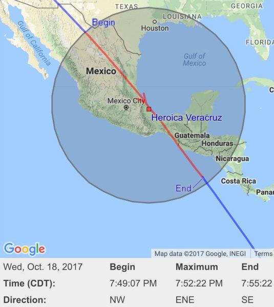 estacion espacial internacional pasara por mexico 1