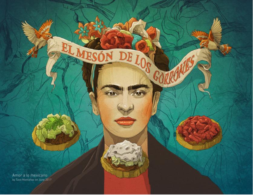 Ilustraciones de los 4 amores que cambiaron la vida de Frida Kahlo 5