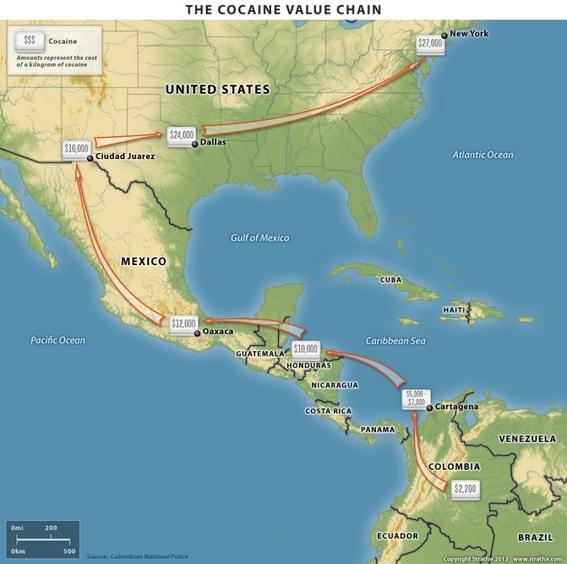 ruta y precio de la cocaina 1