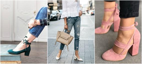 ways to wear block heels 1