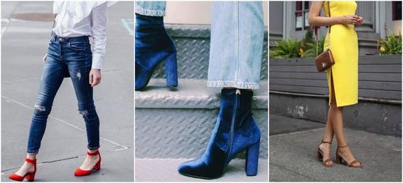 ways to wear block heels 4