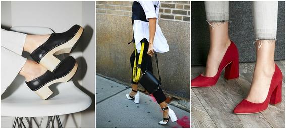 ways to wear block heels 5
