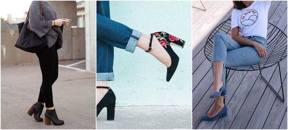 ways to wear block heels 6