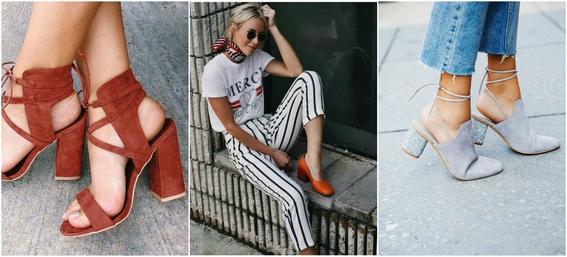 ways to wear block heels 7