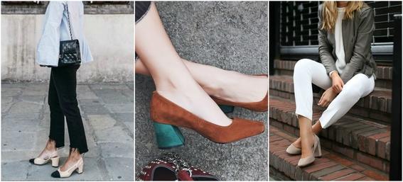 ways to wear block heels 8