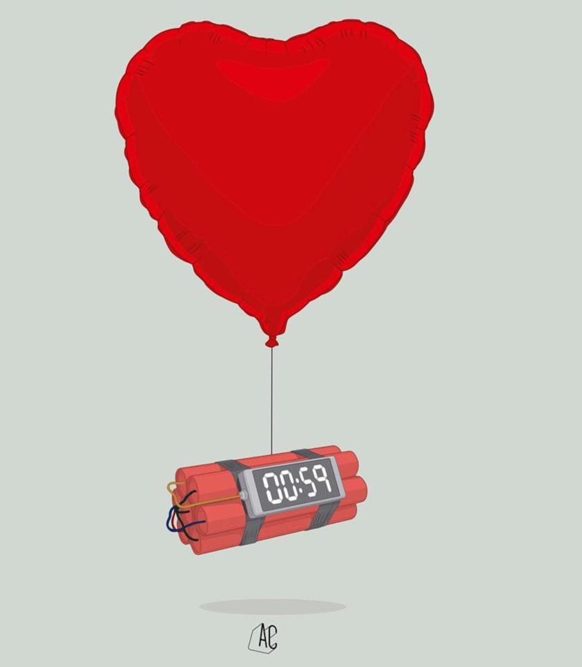Ilustraciones de Álvaro Castro sobre corazones rotos 1