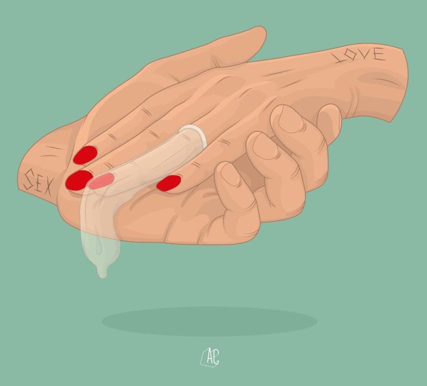 Ilustraciones de Álvaro Castro sobre corazones rotos 8
