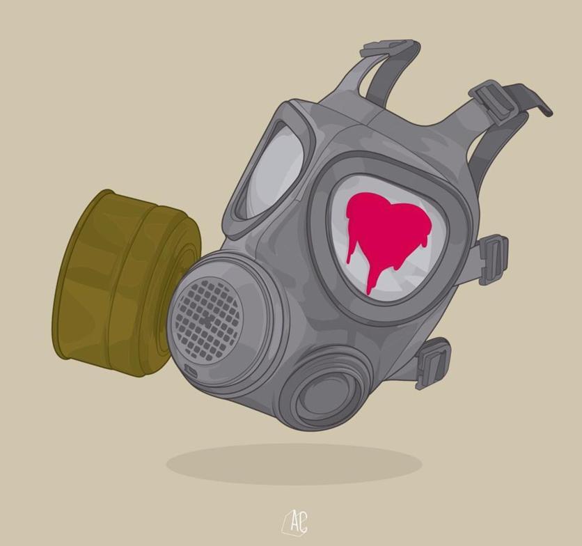 Ilustraciones de Álvaro Castro sobre corazones rotos 11