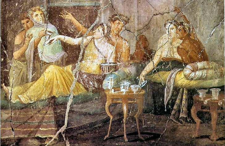 Triclinium: las camas en las que la aristocracia romana celebraba los placeres de la comida y el amor 0