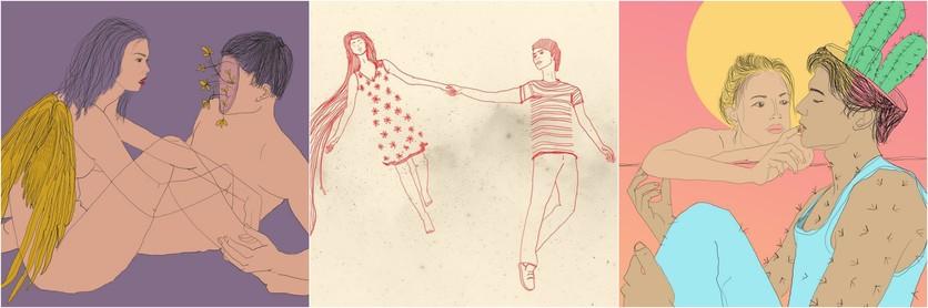 Ilustraciones de Lamiaa Ameen para recordar la historia de amor que tuvimos y me destrozó 3