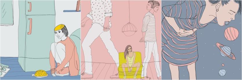 Ilustraciones de Lamiaa Ameen para recordar la historia de amor que tuvimos y me destrozó 6