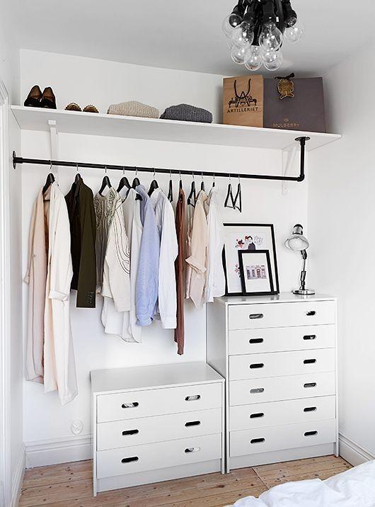 20 ideas para hacer un closet sin gastar 9
