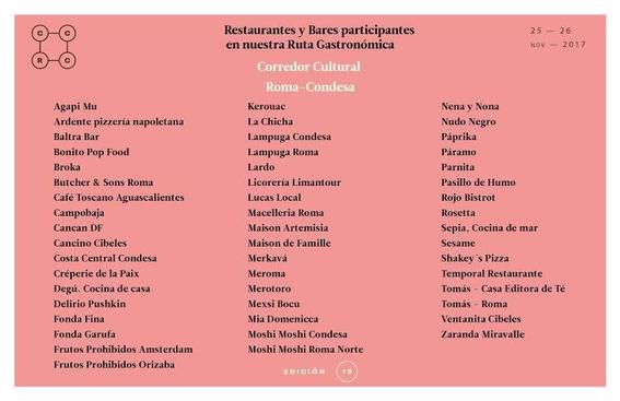 programa de actividades del corredor cultural roma condesa 5