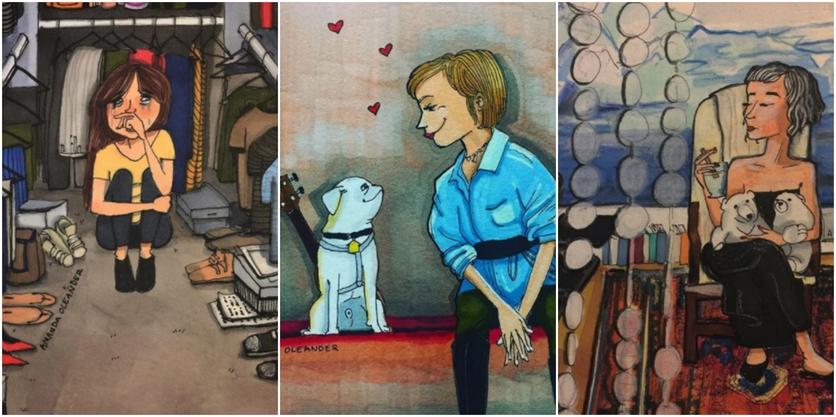 Crónicas de una mujer que vive sin preocupaciones en 27 ilustraciones de Amanda Oleander 1