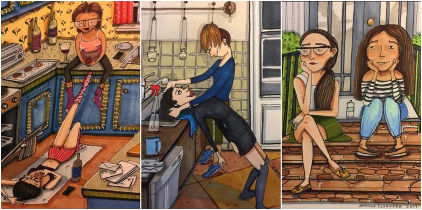 Crónicas de una mujer que vive sin preocupaciones en 27 ilustraciones de Amanda Oleander 2