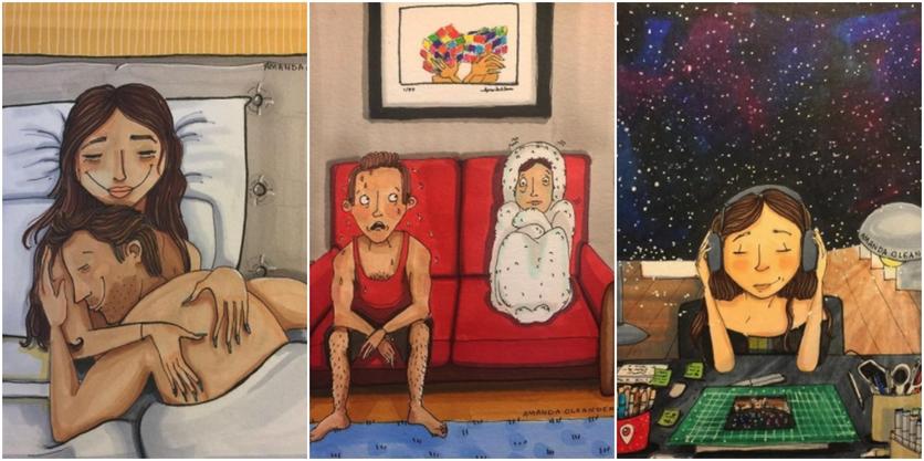 Crónicas de una mujer que vive sin preocupaciones en 27 ilustraciones de Amanda Oleander 3