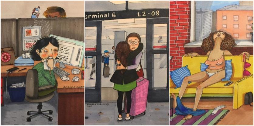 Crónicas de una mujer que vive sin preocupaciones en 27 ilustraciones de Amanda Oleander 5