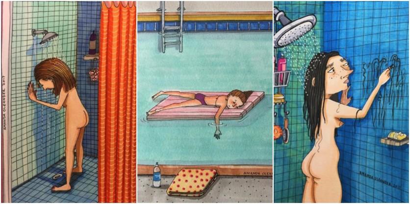 Crónicas de una mujer que vive sin preocupaciones en 27 ilustraciones de Amanda Oleander 7