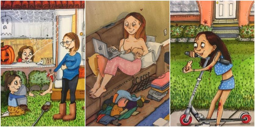 Crónicas de una mujer que vive sin preocupaciones en 27 ilustraciones de Amanda Oleander 8