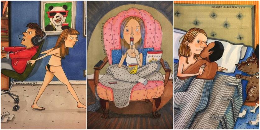 Crónicas de una mujer que vive sin preocupaciones en 27 ilustraciones de Amanda Oleander 0