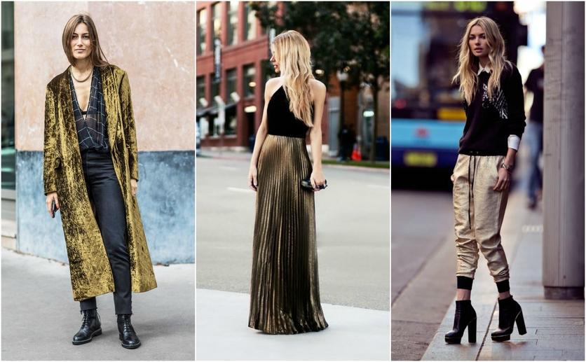 Outfits con colores colores metálicos para verte delgada 1