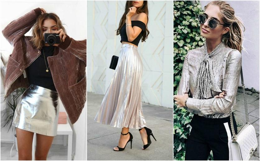 Outfits con colores colores metálicos para verte delgada 2