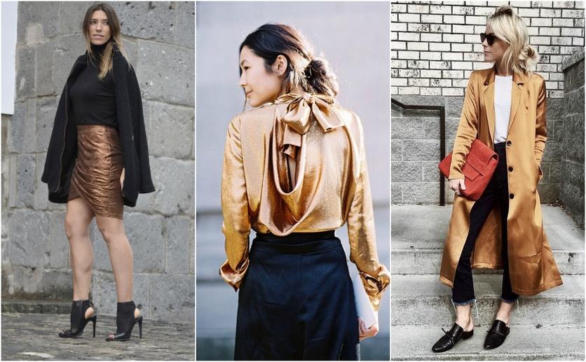 Outfits con colores colores metálicos para verte delgada 3
