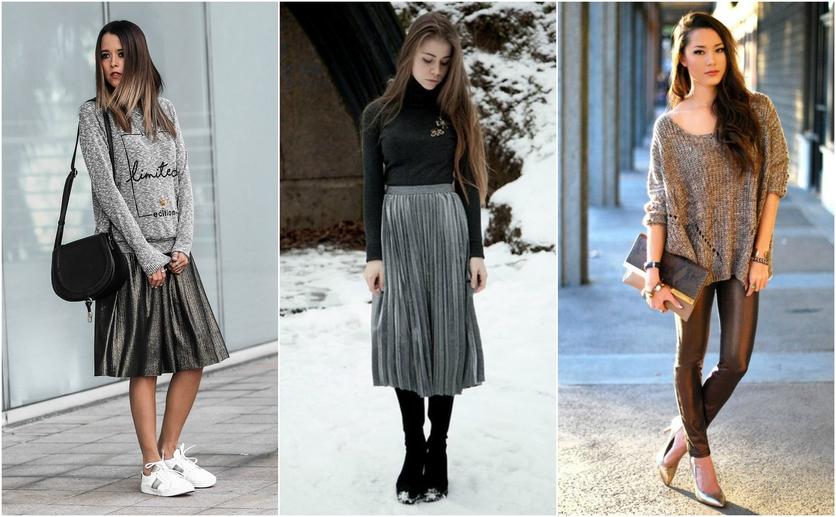 Outfits con colores colores metálicos para verte delgada 5