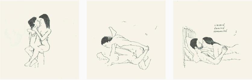 21 dibujos eróticos de todas las fantasías sexuales de una pareja 0